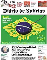 capa Diário de Notícias de 28 outubro 2018