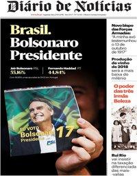 capa Diário de Notícias de 29 outubro 2018