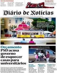 capa Diário de Notícias de 31 outubro 2018