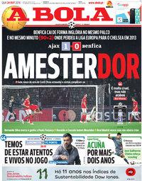 capa Jornal A Bola de 24 outubro 2018