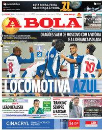 capa Jornal A Bola de 25 outubro 2018