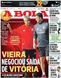 capa Jornal A Bola de 30 outubro 2018