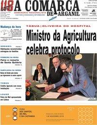 capa Jornal A Comarca De Arganil de 25 outubro 2018