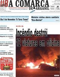 capa Jornal A Comarca De Arganil de 31 outubro 2018