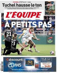 capa Jornal L'Équipe de 20 outubro 2018