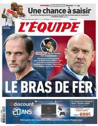 capa Jornal L'Équipe de 23 outubro 2018