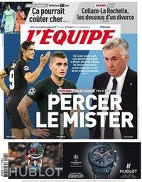 capa Jornal L'Équipe de 24 outubro 2018