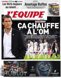 capa Jornal L'Équipe de 27 outubro 2018