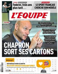 capa Jornal L'Équipe de 31 outubro 2018