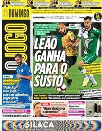 capa Jornal O Jogo de 21 outubro 2018