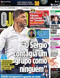capa Jornal O Jogo de 23 outubro 2018