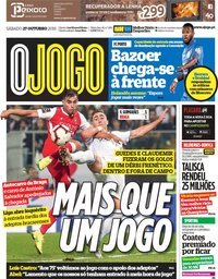capa Jornal O Jogo de 27 outubro 2018