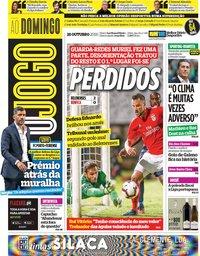 capa Jornal O Jogo de 28 outubro 2018