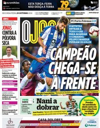 capa Jornal O Jogo de 29 outubro 2018
