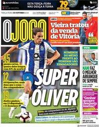 capa Jornal O Jogo de 30 outubro 2018
