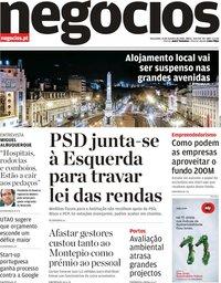 capa Jornal de Negócios de 23 outubro 2018