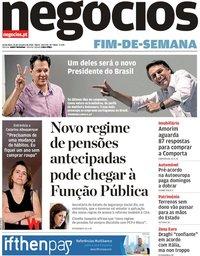 capa Jornal de Negócios de 26 outubro 2018