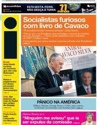 capa Jornal i de 25 outubro 2018