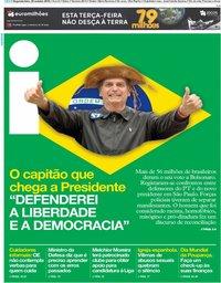 capa Jornal i de 29 outubro 2018