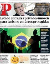 capa Público de 28 outubro 2018
