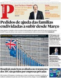capa Público de 31 outubro 2018