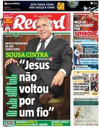 capa Jornal Record de 22 outubro 2018