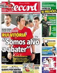 capa Jornal Record de 27 outubro 2018