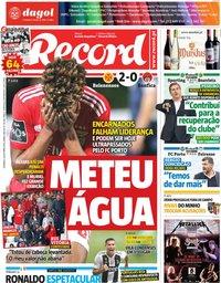 capa Jornal Record de 28 outubro 2018