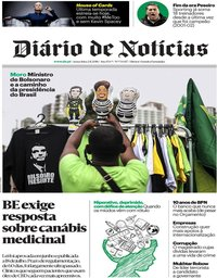 capa Diário de Notícias de 2 novembro 2018