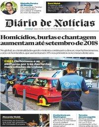 capa Diário de Notícias de 3 novembro 2018