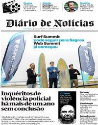 capa Diário de Notícias de 5 novembro 2018