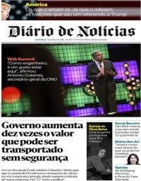 capa Diário de Notícias de 6 novembro 2018