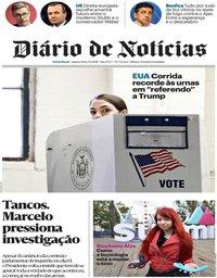 capa Diário de Notícias de 7 novembro 2018