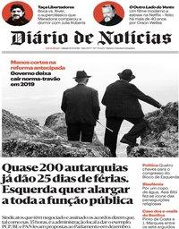 capa Diário de Notícias de 10 novembro 2018