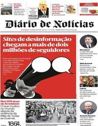 capa Diário de Notícias de 11 novembro 2018