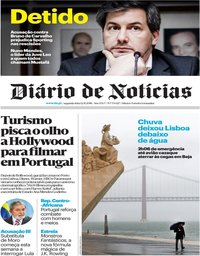 capa Diário de Notícias de 12 novembro 2018