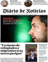 capa Diário de Notícias de 13 novembro 2018