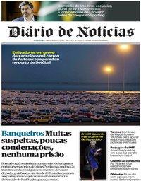 capa Diário de Notícias de 14 novembro 2018