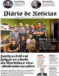 capa Diário de Notícias de 17 novembro 2018