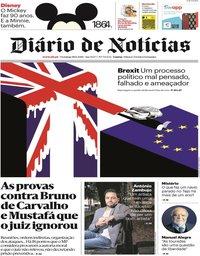 capa Diário de Notícias de 18 novembro 2018