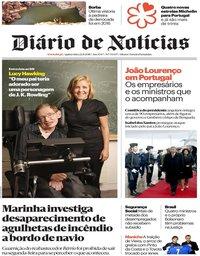 capa Diário de Notícias de 22 novembro 2018