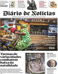 capa Diário de Notícias de 25 novembro 2018
