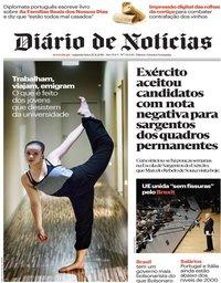 capa Diário de Notícias de 26 novembro 2018