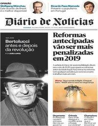 capa Diário de Notícias de 27 novembro 2018