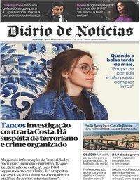 capa Diário de Notícias de 28 novembro 2018