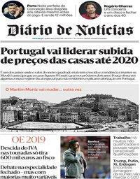 capa Diário de Notícias de 29 novembro 2018