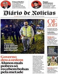 capa Diário de Notícias de 30 novembro 2018