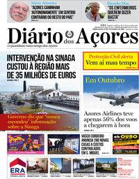 capa de Diário dos Açores