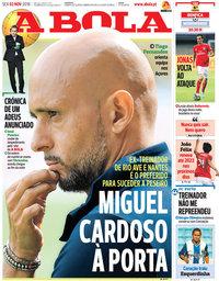 capa Jornal A Bola de 2 novembro 2018