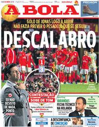capa Jornal A Bola de 3 novembro 2018